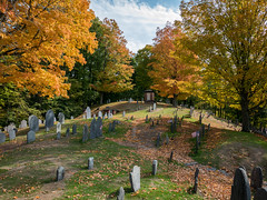 "Fall Color in the ""Old Hill Burying Ground"", Concord, Mass. (Bob Radlinski) Tags: concord massachusetts usa cemetary graveyard travel"