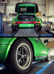 Green Porsche 911 Turbo (AlexanderMoore) Tags: alexandermoore porsche 911 car green sport racing motorsport turbo restored malton yorkshire garage mechanic german