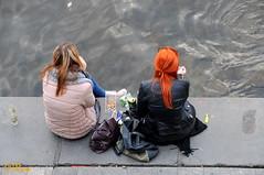 Break ... (R. Van Wallendael) Tags: praguenovmsto vltava
