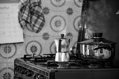 Early morning coffee (skynyrd_01) Tags: francesco cristiani nikon d600 24120mm caff coffee casa dolce caffettiera cucina bw bianco e nero