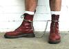 Docs in Leg Cuffs (collaredinboots1) Tags: dms docs docmartens legcuffs anklerestraints reddocs redboots whitesocks