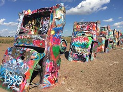 The Cadillac Ranch in Amarillo, Texas (Hazboy) Tags: coche 2016 october i40 40 interstate art automobile car texas amarillo ranch cadillac hazboy1 hazboy