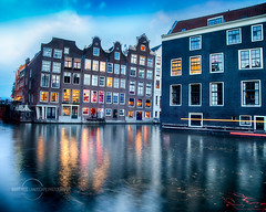 HDR Cityscape image of Amsterdam Zeedijk. (Bart Ros) Tags: landscape waterfront landmark redlight district amsterdam noordholland holland nederlands tnederland adam zeedijk water hdr art pentaxart longexposure lines building buildings architecture achtitectural windows window wark colorful reflection reflect reflections iloveamsterdam gracht grachten sky