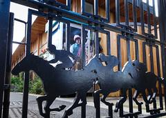Gate to York racecourse (Allan Rostron) Tags: yorkracecourse gates iron entrances horses art