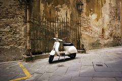 Vespa (Phil_Mercer) Tags: vespa scooter texture walls bricks italy tuscany machine vehicle transport