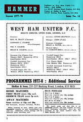 West Ham United vs Newcastle United - 1978 - Page 2 (The Sky Strikers) Tags: west ham united newcastle upton park football league division one hammer 15p official programme
