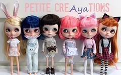 Little outfits (Aya_27) Tags: blythe licca outfit petitecreayations petitecreations bear bunny kitty