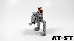 AT-ST (curtydc) Tags: microfighter star wars tie fighter xwing awing atst ywing moc lego custom