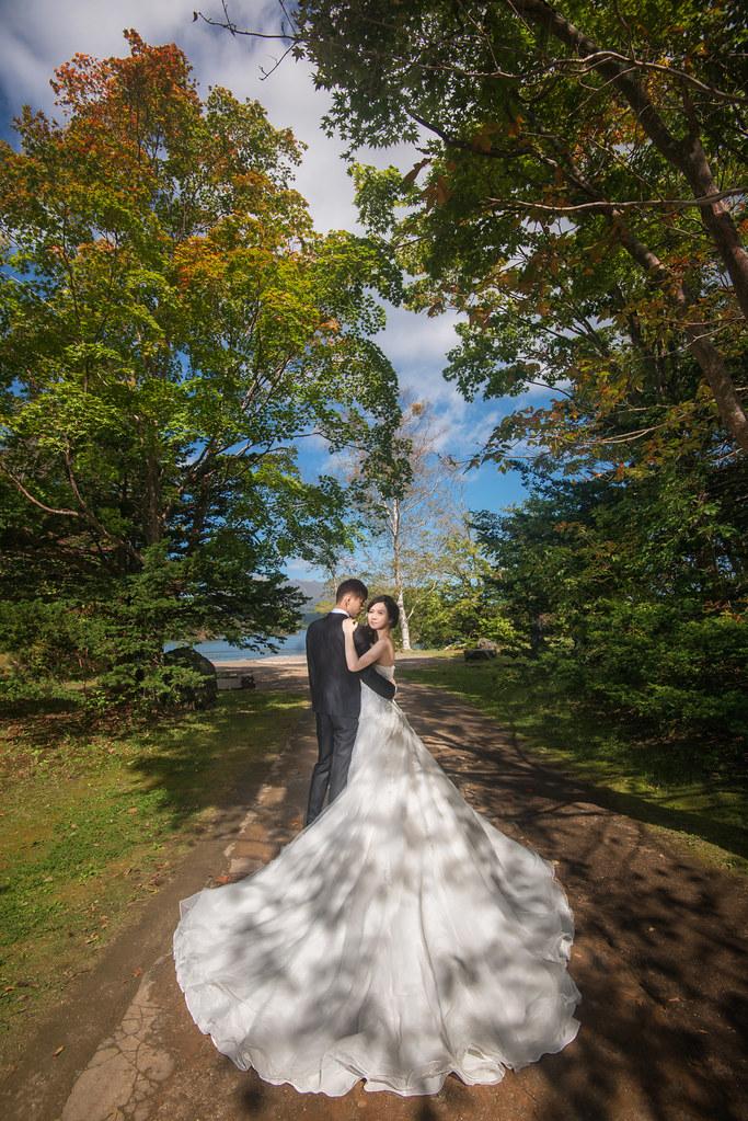 日本北海道婚紗,函館婚紗,大沼公園婚紗,楓葉婚紗,海外婚紗