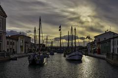 Porto Canale (robbar74) Tags: portocanale leonardodavinci cesenatico emiliaromagna italia tramonto sunset controluce backlit