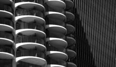 Patterns (CTfoto2013) Tags: abstract abstrait iconic marinacity chicago balconies balcons ombre shadow lumiere light repetition perspective building immeuble architecture nb bw bn noiretblanc blancoynegro cityscape paysageurbain lumix panasonic gx7 micro43 blackandwhite pattern geometricpattern monochrome texture curve minimalism diagonal blackbackground curves round lines courbes symetrie symmetry urbanlandscape ville city geometric apartmentbuildings patterns