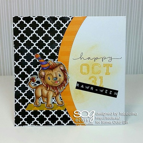 Let's Party like it's ODDtober #SomeOddGirl #clearstamps #cardmaking