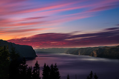 The fjord (Louis Caya) Tags: landscape autumn fjord sunset color colors colorful river tree trees mountain mountains fall beautiful saguenay quebec qubec canada explore explorecanada louis caya louiscaya louiscayaphotography leaves national park