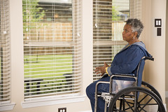 186748181 (UICmedia) Tags: africandescent realpeople service ahelpinghand residentialstructure assistedliving physicalimpairment oneseniorwomanonly seniorwomen women female lookingthroughwindow geriatrics community communityoutreach socialservices charityandreliefwork retirement volunteer nursinghome senioradult adult sitting waiting watching africanethnicity ethnic agingprocess oneperson recovery support assistance hope sadness depression loneliness solitude care healthcareandmedicine lifestyles pensive behavior grayhair disabled patient grandmother people window house homeinterior wheelchair