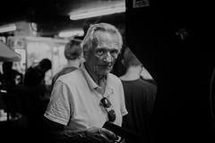 magnum p.i. (jeff_tidwell) Tags: street streetphotography streetphoto candid blackandwhite man gun arcade
