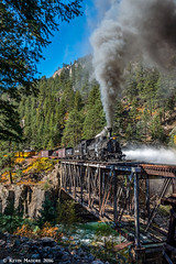 High Bridge Blow-Down (kdmadore) Tags: drgw denverriograndewestern durangosilverton dsng durango silverton steamlocomotive steamengine railroad train narrowgauge