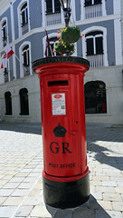 King George V Red Pillar Box, Main Street, Gibraltar (Mosh70) Tags: mainstreet letterbox gibraltar pillarbox kinggeorgev redpillarbox