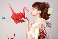 Kimono girl with Crane_0003 (Tsubasa_Japan) Tags: portrait girl beautiful japan model crane kimono tsubasa