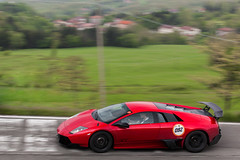Super Veloce. (Lambo8) Tags: pink red italy orange black car rose rouge photography grande italia purple 4x4 anniversary violet s super voiture vik coche future diablo gt 50th 50 rosso nero supercar italie sv giro murcielago v12 miura veloce lm002 hypercar