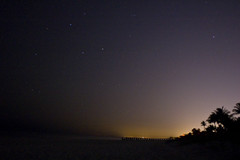 Naples at Night (balrogs kill) Tags: ocean trees sky beach gulfofmexico colors night stars alone florida palm mysterious naples