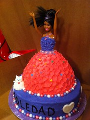 Barbie cake by Vickli H, Santa Cruz, CA, www.birthdaycakes4free.com