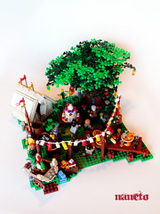 LOTR - A long expected party. (NaNeto) Tags: party sam lego lotr shire frodo bilbo fellowshipofthering pipin moc