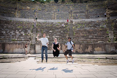 Jumping Shot! (veropie) Tags: travel turkey greek ruins roman trkiye traveling turkish byzantine ephesus sevenwonders izmir ancientgreece seluk efes ionia ancientcity romancity ancientcities sevenwondersoftheancientworld