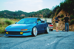 Rig Shots with Handsome and Philthy (Nigel Adashefski) Tags: road mountain canon with shot nation handsome clean rig toyota mr2 gerard slammed philthy t3i glendora fitment stanced fittedkids