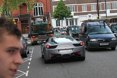 Bat 458 (michaelbham243) Tags: london car grey ferrari knightsbridge batman expensive supercar matte