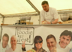Chef Peter Sidwell on stage (Tony Worrall Foto) Tags: show new uk england food man cooking june festival demo tv candid cook tent event international chef cumbria judge celeb cumberland foodfestival foodie furness barrowinfurness 2013 southcumbria foodiefest britainsbestbakery 2013tonyworrall