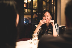 Talk about high iso~ (E.I.T.O) Tags: portrait night vancouver dinner canon italian chat environment 6d sigma3514