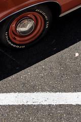 Radial T/A (autobahn66.com) Tags: red orange car wheel automobile plymouth minimal chrome 1970 mopar seventies barracuda sixties v8 musclecar quartermile