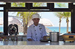 Dream kitchen (Roving I) Tags: chefs uniforms cooks kitchens beaches sea palmtrees umbrellas fans pots cookers beachlibrary holidaybeach hospitality hotels tourism travel catering service danang vietnam
