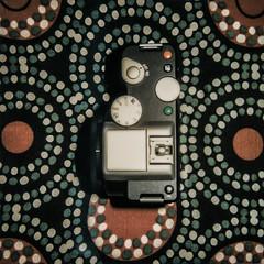 psychedelic (mohamedyamin_masop) Tags: polaroid slr690 instant film square dots circles psychedelic camera pentaxk01