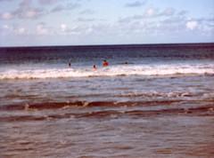 Fun in the Waves - c1983 (kimstrezz) Tags: 1983 familytriptohawaiic1983 hanaleibay kauai