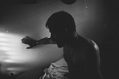 Traces of light (marcus.greco) Tags: traces light selfportrait portrait man shadow trama vintage black white