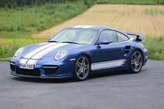 "997 turbo - 003 (Erkka Suominen) Tags: ""cobalt blau porsche"" blue ""bridge gantry"" nürburgring ""porsche 911 turbo"" ""911 ""997 ""pwr700"" ""evoms evt775"" ""evt775"" ""nürburgring bridge pccb"