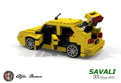 Alfa Romeo 33 Savali (Typ 907) (lego911) Tags: alfa romeo 33 savali sam van lingen hatch hatchback 907 typ type 1980s auto car moc model miniland lego lego911 ldd render cad povray lugnuts challenge 106 exclusiveeditions exclusive special limited edition italy italian boxer