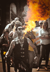 Fire Eater (neilnorman1) Tags: fireeater danger fire streetentertainer whitby