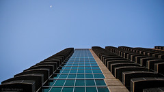 Hello there moon (eduardo.rodriguez87) Tags: ifttt 500px atlanta black white building city cityscape cityscapes clouds original photo date rated showcase sky sunset bw blue clear exploration glass lines monochrome skyscraper urban wow blackandwhite photodate architecture