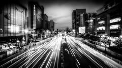 the race is on (Rob-Shanghai) Tags: shanghai china cityscape leica m240 cv12mm light stream mono traffic