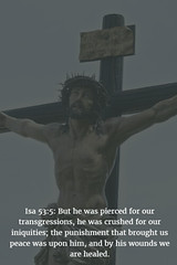 Isa 53:5: We must not forget the heartfelt sacrifice God made for us. (bibleblender) Tags: crucifixion isaiahbookof sacrifices