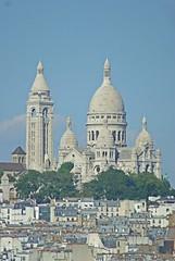 Sacr Coeur from the Printemps rooftop | Paris (Elisabeth de Ru) Tags: paris france basilique sacrcoeur 75018 fromprintempsrooftop tamron70300|1456telemacro1262a17uvfilter sonyalpha parisaugust10182016 europe parijs