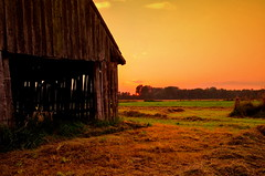 """ The Barn "" (Kalbonsai) Tags: hooischuur barn hay nikon d5100 1685mm clouds landscape sunset germany wetf outdoorphotography bauer boer hooi"
