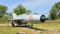 MiG-21M c/n 961503 serial 503 Romania Air Force (sirgunho) Tags: muzeul aviatiei bucharest romania aviation museum boekarest romeni romanian air force preserved stored aircraft aeroplane jetfighter helicopter jet plane planes mig21m cn 961503 serial 503