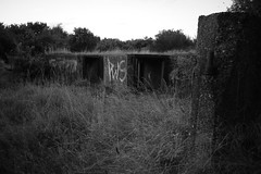 Hill Top Gun Site (mathilde.fulford) Tags: bw city urban black white graffiti ww2 worldwar2 birmingham handsworth uk antiaircraft gun defence war millitary