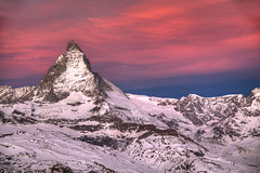 Gornergrat Sunrise (hapulcu) Tags: alps cervin cervinia gornergrat matterhorn schweiz suisse suiza svizzera switzerland valais wallis zermatt dawn sunrise winter