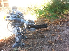 Exo suit mod + minigun upgrade (Veldranester) Tags: lego 21109 exo suit minigun legoideas