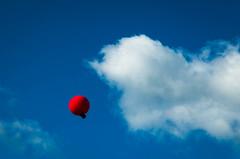 1 of 99 (FraVal Imaging) Tags: balloon binzen deutschland redballoon blue redandblue clouds dreaming sky floating upintheclouds farbtupfer wolken red himmel wolke flickr