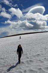 Climbing Third Burroughs (Sotosoroto) Tags: dayhike hiking mtrainier burroughsmountain washington cascades mountains snow clouds